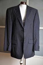 Business Nadelstreifen Anzug Rene Lezard Pure New Wool Gr. schwarz