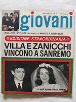 RIVISTA GIOVANI N. 6 - 1967 GIULIANO GEMMA NOMADI CLAUDIO VILLA IVA ZANICCHI