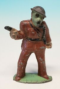 Original Pre WWII Barclay? American Metal Co Toy Soldier Infantry Gas Mask
