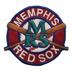 "MEMPHIS RED SOX NEGRO LEAGUE BASEBALL 3.5"" CROSSED BATS LOGO TEAM PATCH"