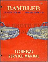 1961 AMC Rambler Classic and Ambassador Shop Manual 61 Original Repair Service