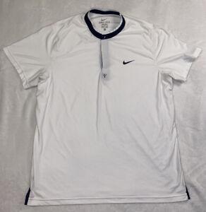"Rare Nike Federer ""RF"" 2010 Madrid Open Tennis Polo Shirt 378658-100 Men's XL"
