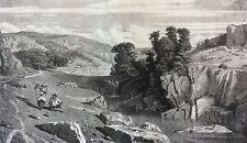Paul Huet un torrent d' Italie gravé par Baron (1816-1881) circa 1845 Italia