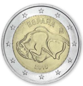 """Spain 2 euro coin 2015 """"Cave of Altamira"""" UNC"""