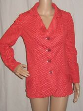 Vintage Blazer Red Polka Dot Princess Suit Jacket 1970s 70s Medium