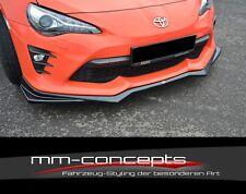 CUP Spoilerlippe SCHWARZ Toyota GT86 Frontspoiler Spoilerschwert Ansatz V2 II