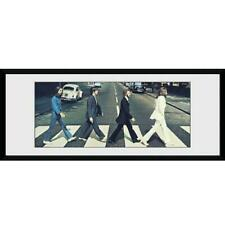 More details for official the beatles abbey road framed picture print 30 x 12 inches