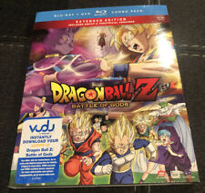 DragonBall Z: Battle of Gods (Blu-ray/DVD, 2014, 3-Disc Set) With Slipcover