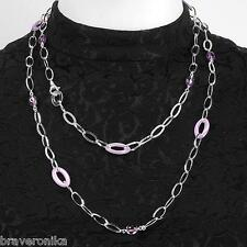 ROSATO MADE ITALY ENAMEL NECKLACE AND BRACELET, 925 STERLING SILVER, BRAND NEW