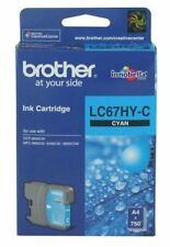 Brother Genuine LC-67HYC H/Yield CYAN Ink For 6690CW 5890CN 6490CW - 750 Pages
