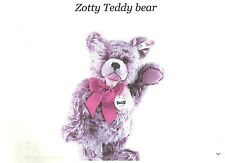 """7"""" Mohair Steiff Bear / Zotty / Jointed / Excellent"""