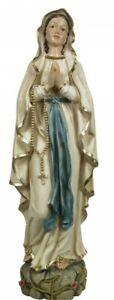 Lourdes Madonna Marienfigur handbemalt 20 cm Maria Resin Mutter Gottes