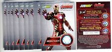 1X IRON MAN 2015 Avengers Age Of Ultron Subway PROMO SAMPLE NMMT Lots Available