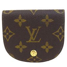 Auth Louis Vuitton Porte Monnaie Gousset Coin Case Wallet Monogram M61970 08Q407