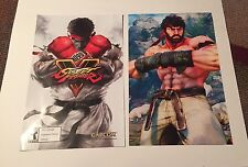 (2)-Rare-STREET FIGHTER V Double Sided Promo Posters 17x11 Inches