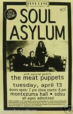 SOUL ASYLUM / THE MEAT PUPPETS 1993 SAN DIEGO CONCERT TOUR POSTER