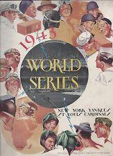 1943 World Series program St. Louis Cardinals New York Yankees Gm 2 part. scored