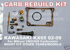 CARBURETOR REBUILD KIT MAIN JET GASKET NEEDLE IDLE SPRING MIKUNI VM24SS KX65
