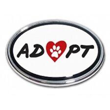 Adoption Oval Chrome Metal Emblem *A portion of the proceeds go to The Humane So