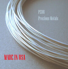 Solid Fine, Pure 999 Silver Wire 12 Gauge, 1oz, 3', Round Dead Soft Made in US