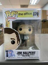 Funko Pop! Television The Office - Jim Halpert Figure • Nbc #870 w/ Protector