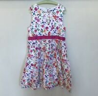 LANDS' END Girl's Floral Spring Garden Party Birthday Party Dress Size 10 EUC