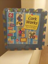 "School Supplies >Cork Works 12"" Bulletin Board Interlocking Pieces, 6 pcs.New!"