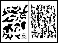 "2Pack! Vinyl Airbrush Spray Stencils 10Mil - 14x9"" Camouflage Tree Bark Multicam"