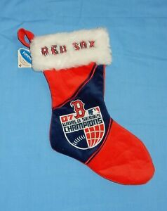MLB Boston Red Sox 2007 World Series Champions Christmas Stocking w Tags