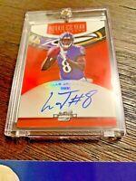 2018 Panini Optic Contenders Lamar Jackson Autograph Rookie Card NFL Ravens MVP