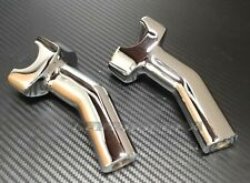 Harley 4 inch Chrome Pullback Handlebar Risers Dyna Fatboy Heritage Softail Iron