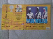 PAUL WELLER UNUSED TICKET STUB Route of Kings London Hyde Park 28th July 2002