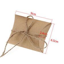 200pcs Cute Kraft Paper Pillow Gift or Wedding Favour Boxes Candy Cake Sweet Bag 200pcs