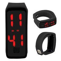 Fashion Mens Womens Digital Touch LED Sports Silicone Bracelet Wrist Watch