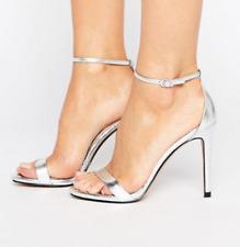 f45c77a73da BN Steve Madden Stecy Silver Heeled Sandals UK 7 EU 40 RRP £70