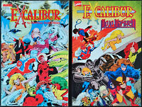 "Lot of 2 Excalibur ""Special Edition 1987"" & ""Mojo Mayhem 1989"" Marvel TPB NM"