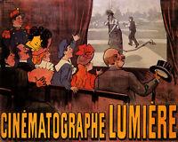 MOVIE FILM CINEMATOGRAPHE LUMIERE FUNNY SHOW 8X10 VINTAGE POSTER REPO FREE S/H