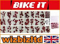 Motorbike Anodised RED FAIRING and SCREEN BOLT KIT (150 parts) - USS150R