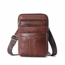 Leather Cowhide Vintage Messenger Bag Crossbody Bag for Men Satchel Shoulder Bag