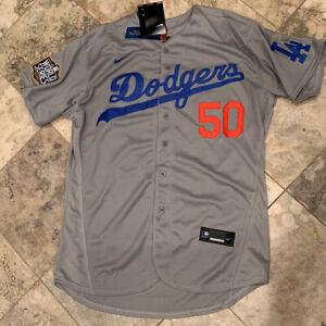 Los Angeles Dodgers Mookie Betts ROAD  Nike 2020 World Series Jersey Sz 44 Large