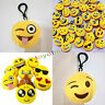 Emoji Series Smiley Emoticon Soft Stuffed Plush Toy Key Chain key Ring 1PC