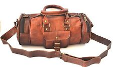 Leather Bag duffle Travel Men Genuine Gym Luggages Overnight Vintage Duffle