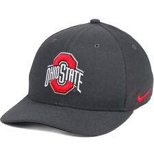 best website bb599 f8eea Ohio State Buckeyes Nike Anthracite Classic Swooshflex L XL Flexfit Cap Hat