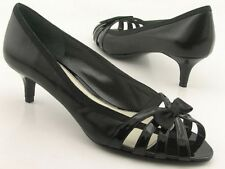 bbd6fe103e81 New BANDOLINO d Orsay Women Leather Dress Heel Pump Peep Toe Sandal Shoe Sz  8.5