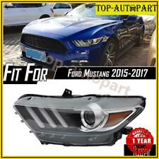 For 2015 2017 Ford Mustang Hid Led Tube Projector Headlight Headlamp Driver Side Fits Mustang