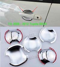 For TOYOTA RAV4 2006 2007-2012 ABS Car Chrome Door Handle Bowl Cover Trim 5PCS