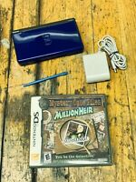 Nintendo DS Lite Cobalt Blue Handheld Console With Charger And (1) Game