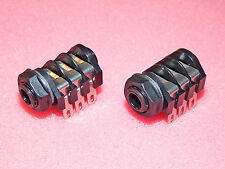 "CLIFF UK Genuine 1/4"" 6.35mm Stereo Switched Jack Socket Plastic Nut Marshall"