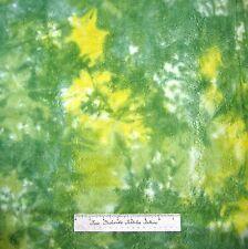 Bali Batik Fabric - Green Yellow & White Patches - Cotton YARD