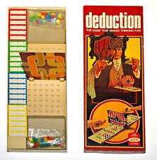 """ DEDUCTION "" BOARD GAME - VINTAGE / RETRO 1970s GAME FOR 2 PLAYERS- COLLECTABLE"